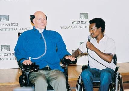 christopher reeve education christopher reeve comes to weizmann institute people