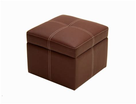 Ottoman Store Ottoman Footstool Foot Stool Storage Box Organizer Brown Furniture Faux Leather Ebay