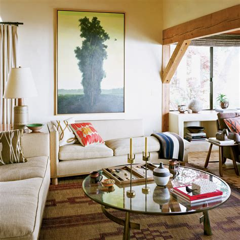 warm and living room california style decorating