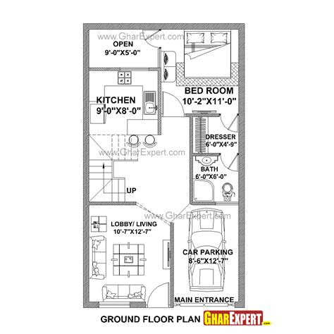 design expert half normal plot house plan for 21 feet by 37 feet plot plot size 86