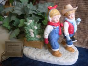 Home Interior Denim Days Figurines by Home Interiors Homco Denim Days Quot Bringing Home The Tree