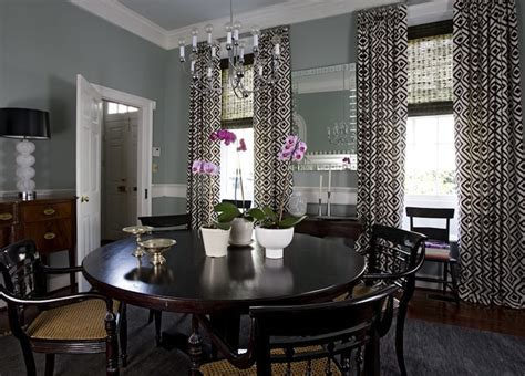 dark gray dining room la fiorentina curtains eclectic dining room angie