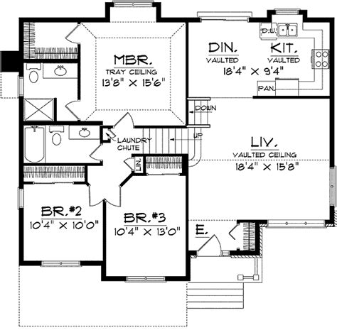 small split level house plans split level home plan 8963ah 1st floor master suite