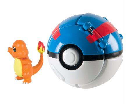 Clearance Sale Pokeball Poke Go T1310 4 charmander great throw n pop poke tomy t19111 official