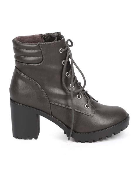combat boot heels new breckelles ranger 21 leatherette toe block