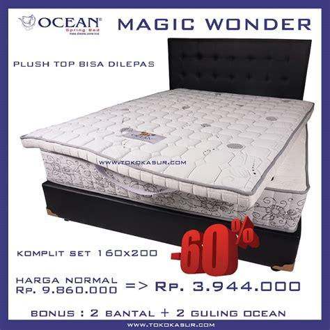 Uniland Bed 180x200 Komplit Set Sandaran Chrysant Coklat toko furniture simpati paling murah paling lengkap
