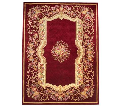 Royal Palace Handmade Rug - royal palace formal garden 9 x 12 handmade wool rug qvc