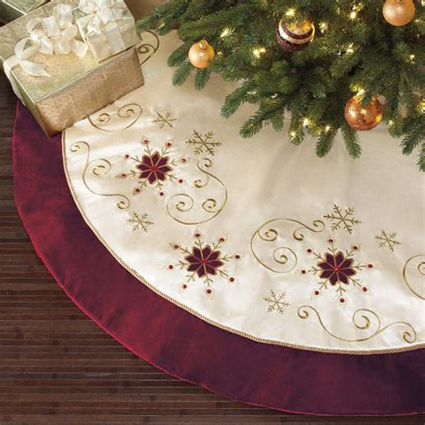 163 15 new tatty box christmas tree skirt luxury faux fur red
