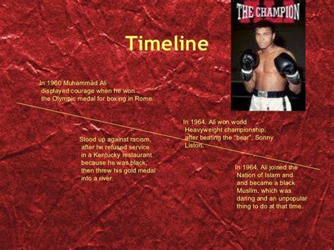 muhammad ali biography timeline muhammad ali power point