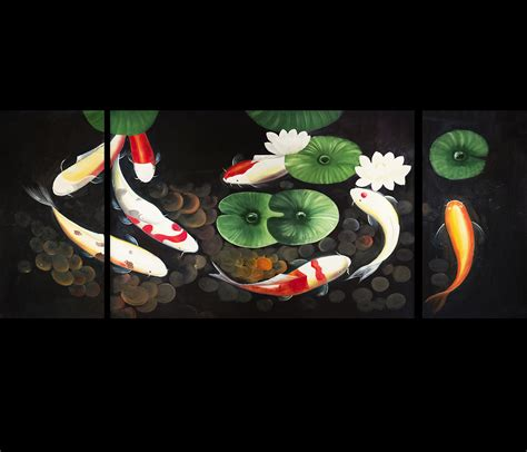 feng shui painting koi fish painting