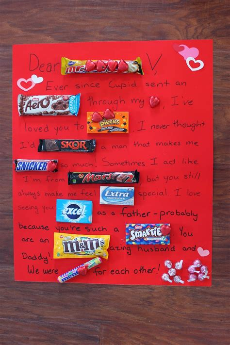 chocolate bar love letter love create celebrate