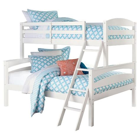 Maddox Bunk Bed Twin Full White Target Target Bunk Beds