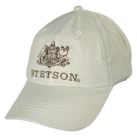 stetson iconic logo strapback baseball cap all baseball caps