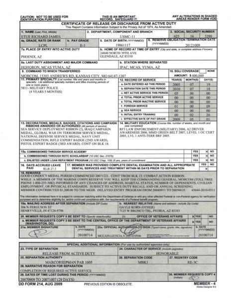marine corps dd214 form dd214