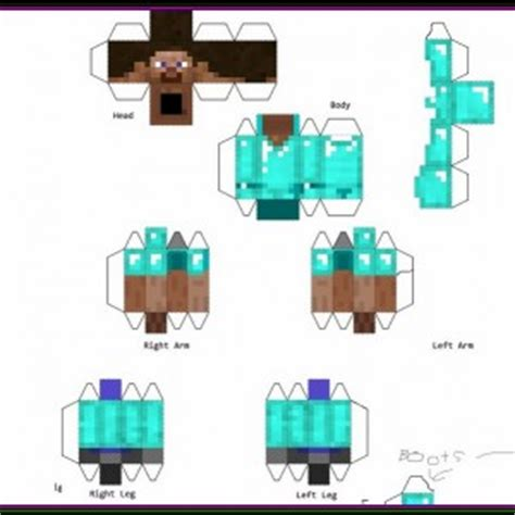 Pixel Papercraft Minecraft - pixel papercraft minecraft skins related keywords pixel