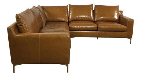 saddle leather sectional modern saddle leather sectional sofa chairish