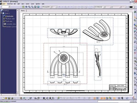 pattern sketch in catia catia assembly drawing