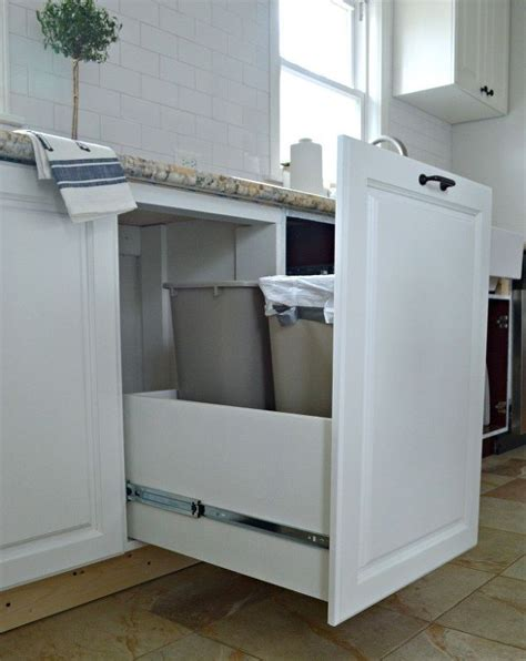 kitchen cabinet recycle bins hidden trash and recycle bins hometalk