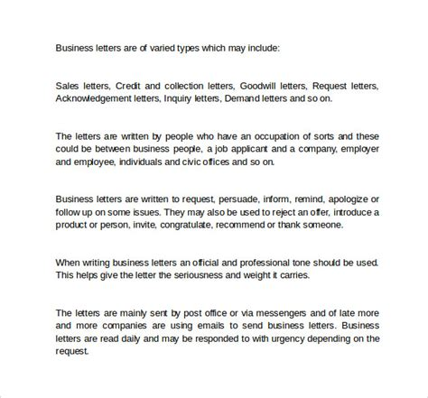 Business Letter Components Definition Business Letter 9 Free Sles Exles Formats