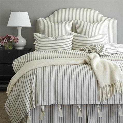 Ballard Designs Headboards ticking stripe duvet black ballard designs