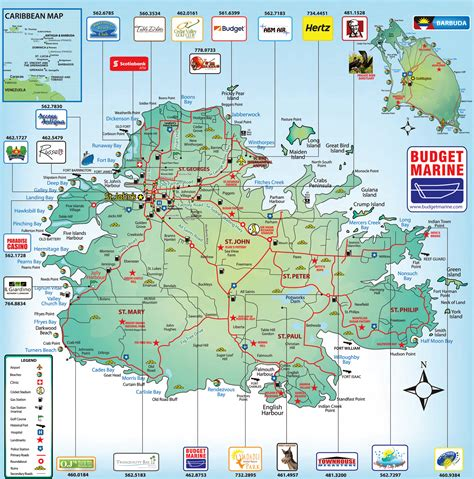 antigua map maps of antigua and barbuda map library maps of the world