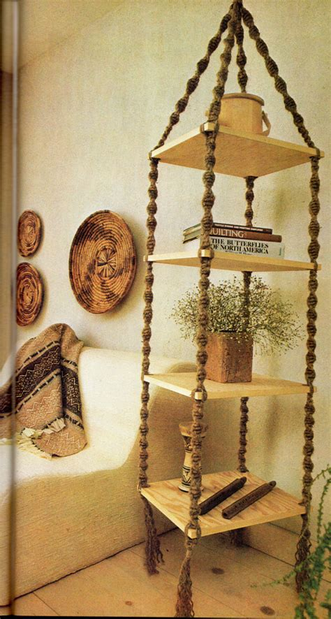 Macrame Hanging Shelf by Hanging Shelf Macrame Pattern 6 Vintage Macrame
