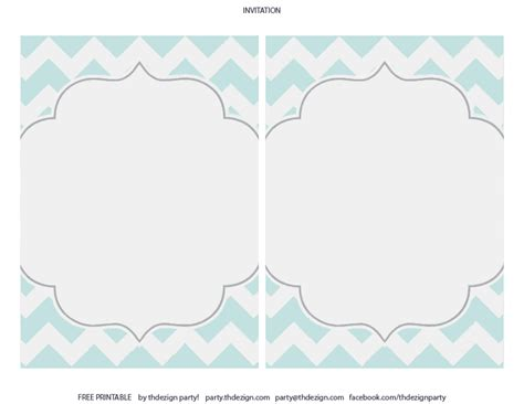chevron printable invitation template free chevron party printables from thdezign party catch