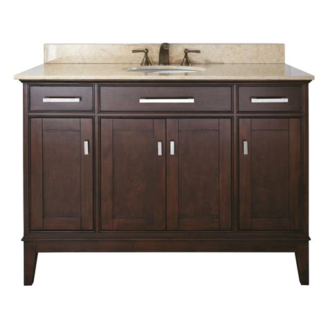 Espresso Bathroom Vanities Shop Avanity Freestanding Light Espresso Bathroom Vanity Common 48 In X 21 In Actual