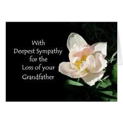 tulip sympathy card loss of a grandfather zazzle