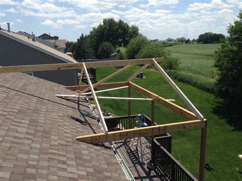 Adding Roof Existing Deck - existing roof make sure your ladder is enough to
