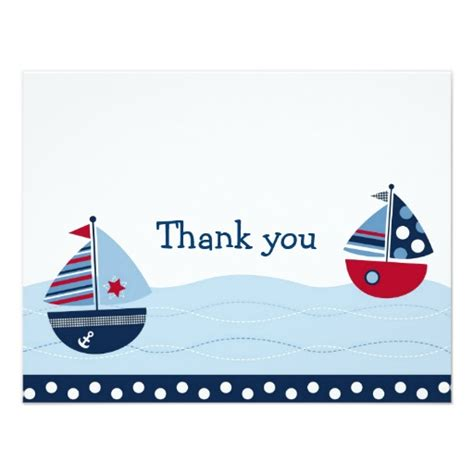 thank you letter for who away sail away sailboat nautical thank you note cards zazzle