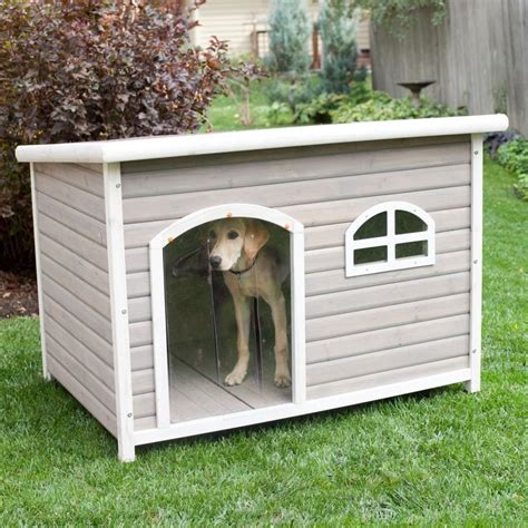 roof dog spotty xl insulated flat roof dog house with heater