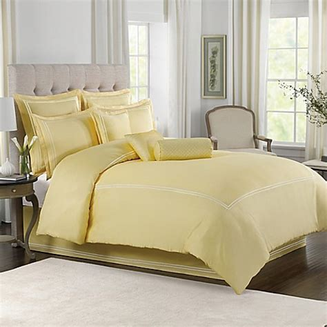 wamsutta comforter sets wamsutta 174 baratta stitch comforter set in butter bed