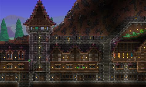 Cd Storage Ideas by Fortresses Amp Living Quarters Terraria Maps Curse
