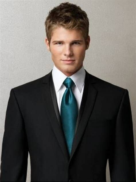 mens suit and teal tie fashion blue ties