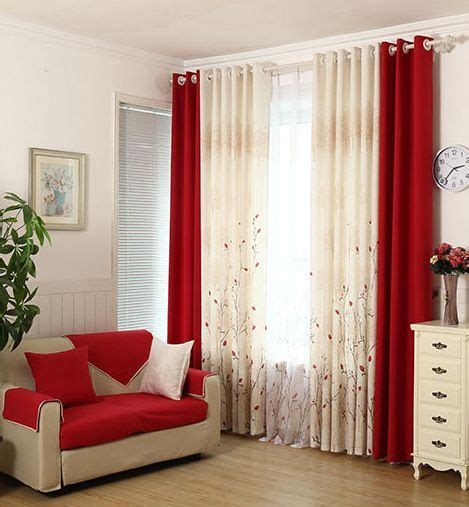 red curtains for bedroom pastoral living room bedroom warm and simple modern custom