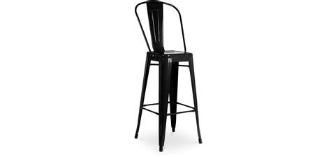 Black Bar Stool With Backrest by Tolix Bar Stool With Backrest Xavier Pauchard