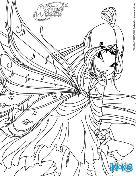 musa transformation bloomix coloring page pretty
