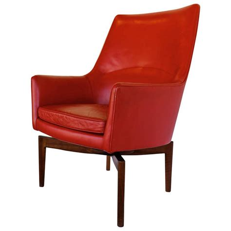 rotherham high back club chair high back leather swivel lounge chair by jens risom at 1stdibs