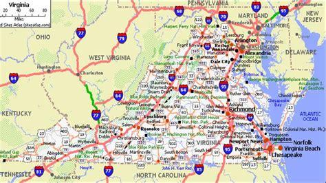 highway map of virginia virginia road map my