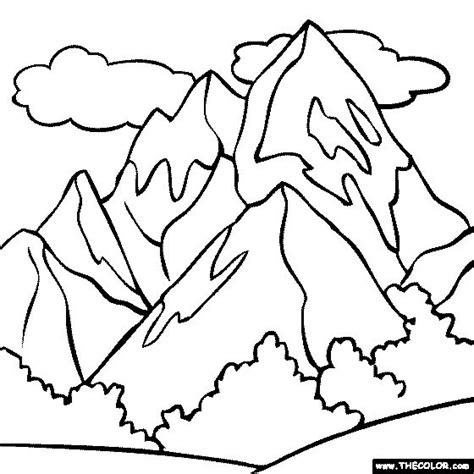 Coloring Page Toddler Ideas Everest Vbs Pinterest Mountain Coloring Page 2