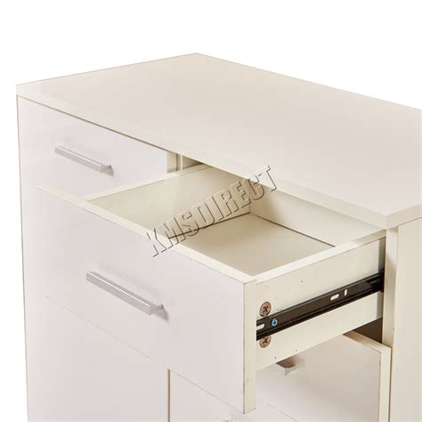 New High Gloss White Modern Sideboard Buffet Cabinet Foxhunter White High Gloss Cabinet Unit Sideboard 2