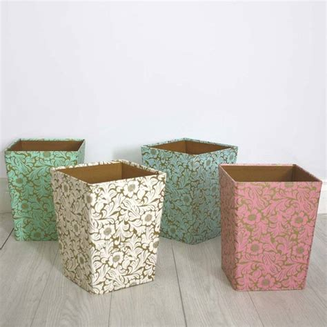 waste paper bins recycled floral waste paper bin by parcel notonthehighstreet