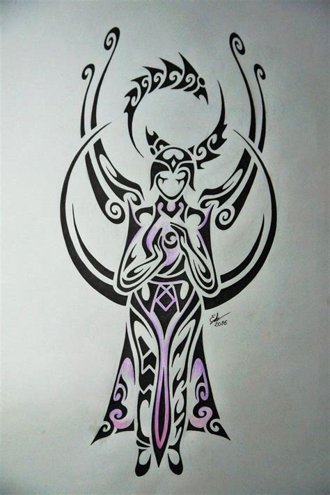 chions league tattoo designs tribal design of karma league of legends