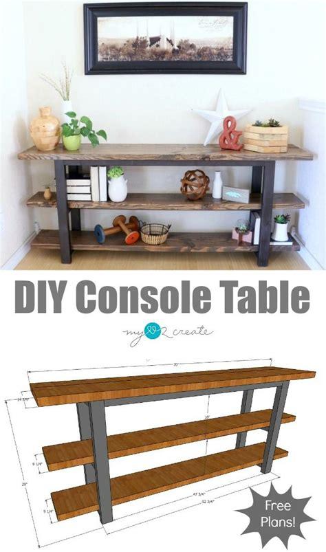 build   diy console table  plans