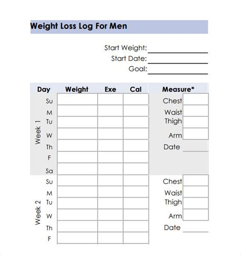 a weight loss chart weight loss chart 9 free documents in pdf