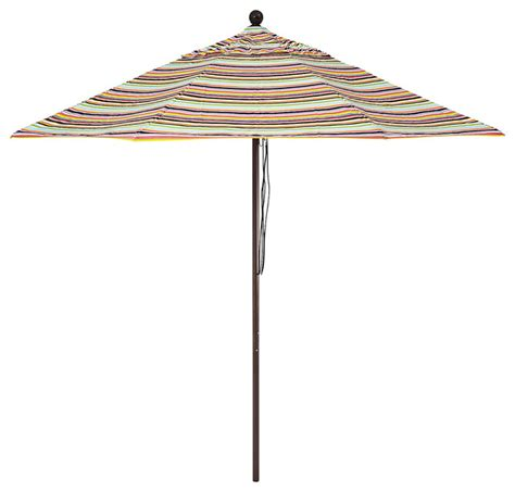 Blue And White Striped Patio Umbrella Striped Patio Umbrella Malibu Contemporary Outdoor Umbrellas