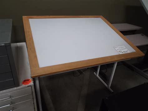 Drafting Table With Light Box Used Light Table Box Hopper S Drafting Furniture