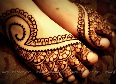 indian bridal foot design by j henna by j henna