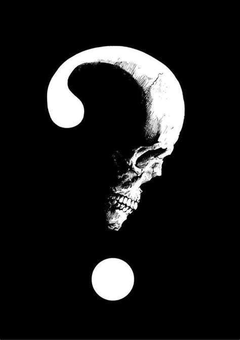 question mark tattoo design skull question assustador in 2018